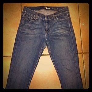 7 FOR ALL MANKIND SZ 28 THE SKINNY CROP &  ROLL
